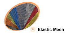 Elastic mesh fabrics
